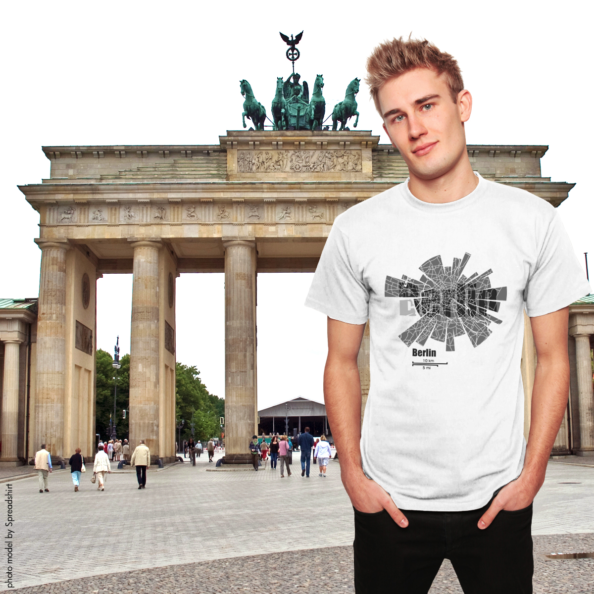 Map of Berlin T-Shirt for men by ShirtUrbanization