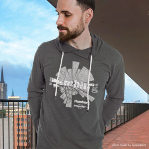 Map of Hamburg Hoodie by ShirtUrbanization