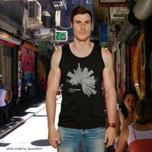Map of Melbourne Tank Top for men by ShirtUrbanization