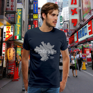 Map of Tokyo T-Shirt for men by ShirtUrbanization